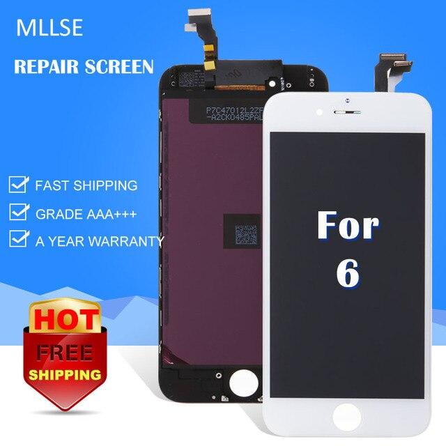 """10/adet iphone 6 Lcd Dokunmatik Ekran 4.7 """"inç iphone 6 Cam Değiştirme Digitizer Meclisi Onarım AAA En Kaliteli DHL"""