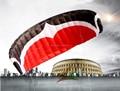 O envio gratuito de alta qualidade M 12 metros quadrados linha quad power kite surf pipas papagaio aguia board kite paraquedas ciclo kevlar