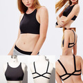 Hot Selling Fashion New Sexy Women's Padded Bra Tank Tops Cage Bustier Bra Vest Crop Top Bralettes Blouse Solid Halter