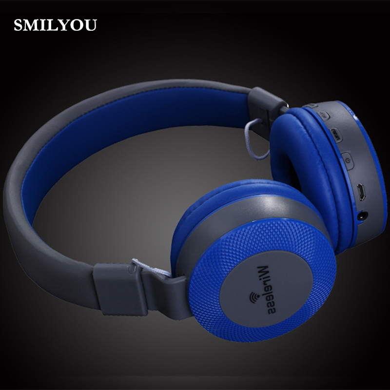 SMILYOU MS551BT Wireless Headphone Bluetooth Headset  Headphones Noise Cancelling Mic Handsfree Calling FM  for iPhone Samsung ovleng s77 wireless stereo headphone bluetooth headset foldable handsfree noise cancelling mic for iphone 7 plus galaxy htc sony