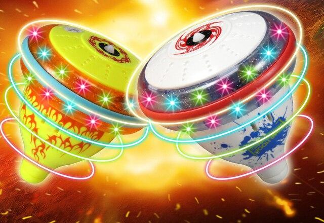 Звучание и мигающий волчок-хоп барабан мяч Дети Классические Игрушки Гироскоп Легкая Музыка Игры Детей Гироскопа beyblade