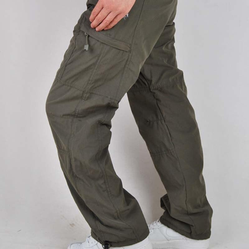 Pantalon Polaire Lâche Green dark Green Army Black Globale Hommes light De Casual Taille Baggy Automne Droite Pnats Grande Hiver Bas Épaisse Long grey qBB86P