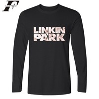 High Quality T Shirt Men Cotton Funny Linkin Park Rock Band Long Sleeve Cotton T Shirt