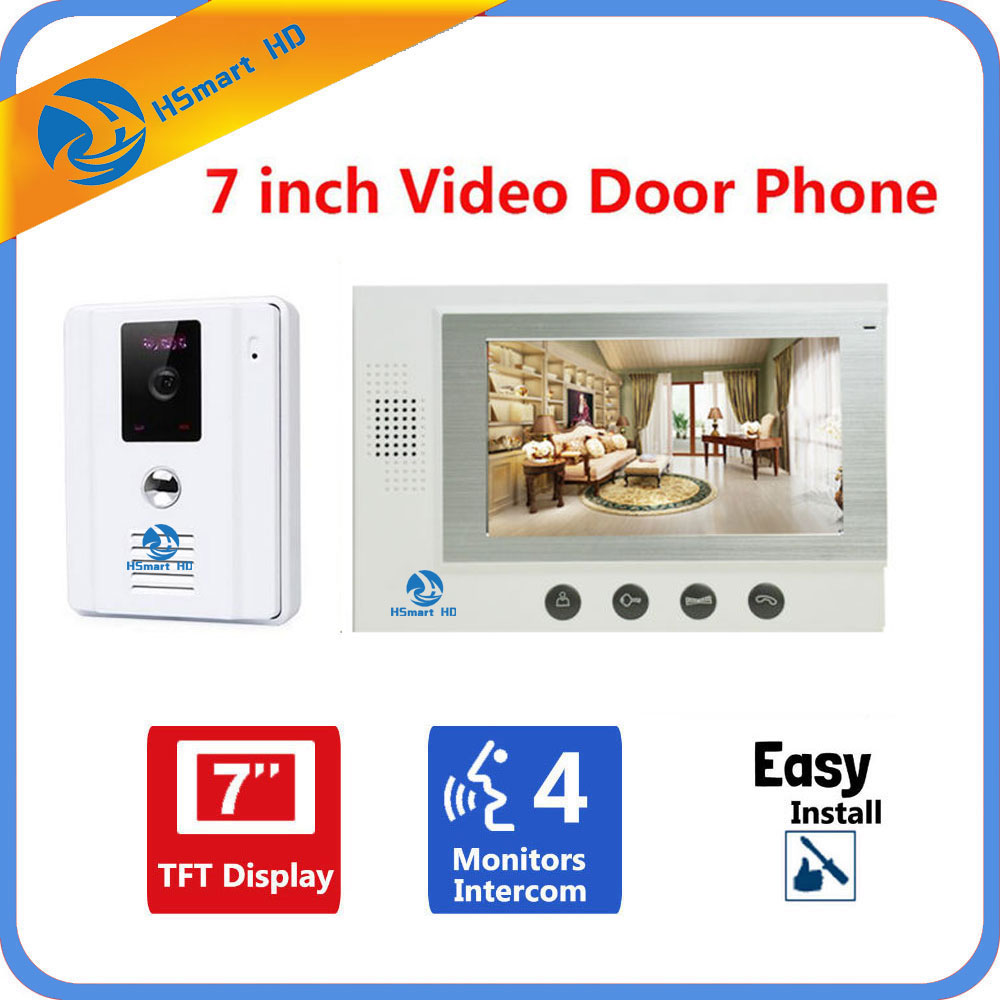 HSmart HD 7 LCD Video Door Phone Video Doorbell Intercom System Home Security IR Camera Monitor With Night Vision Videoportero 1064 1320 532nm fortattoo eyebrow removal laser handpiece probe