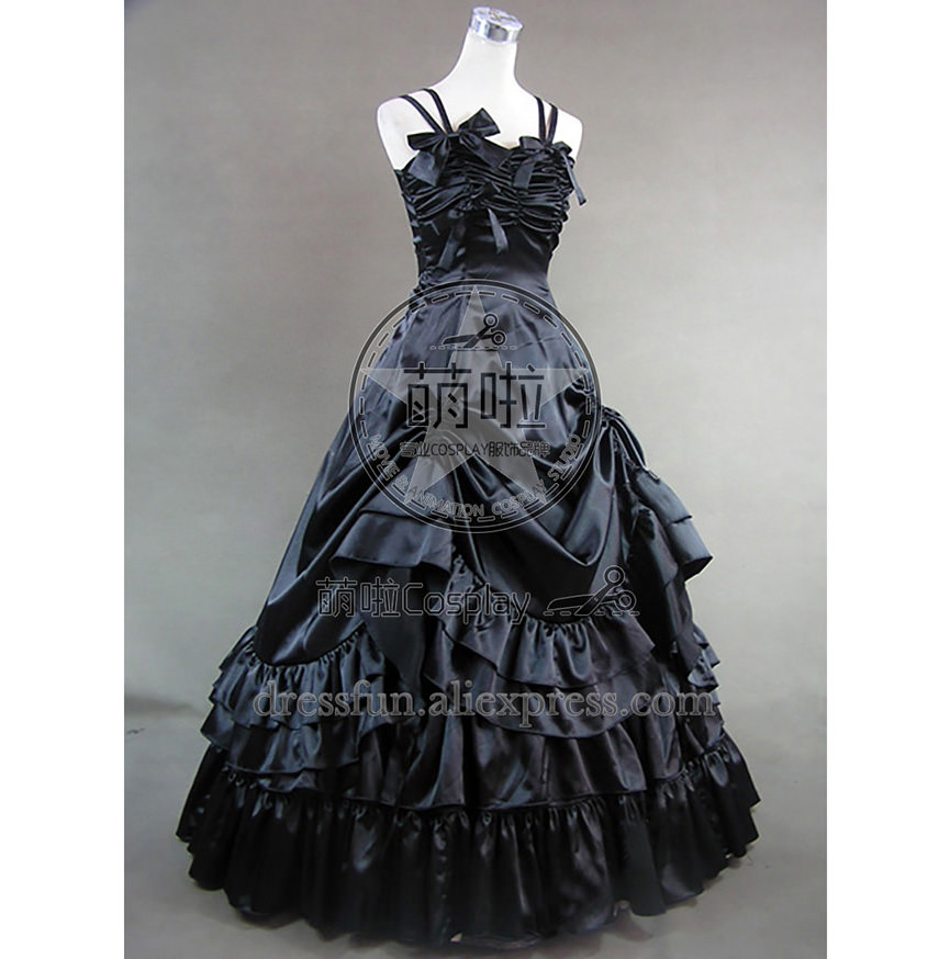 Southern Belle Satin Ball Gown Lavender Prom Lolita Dress With Belt And Ruffles Decorated And Has Glossy Surface Grace For Party