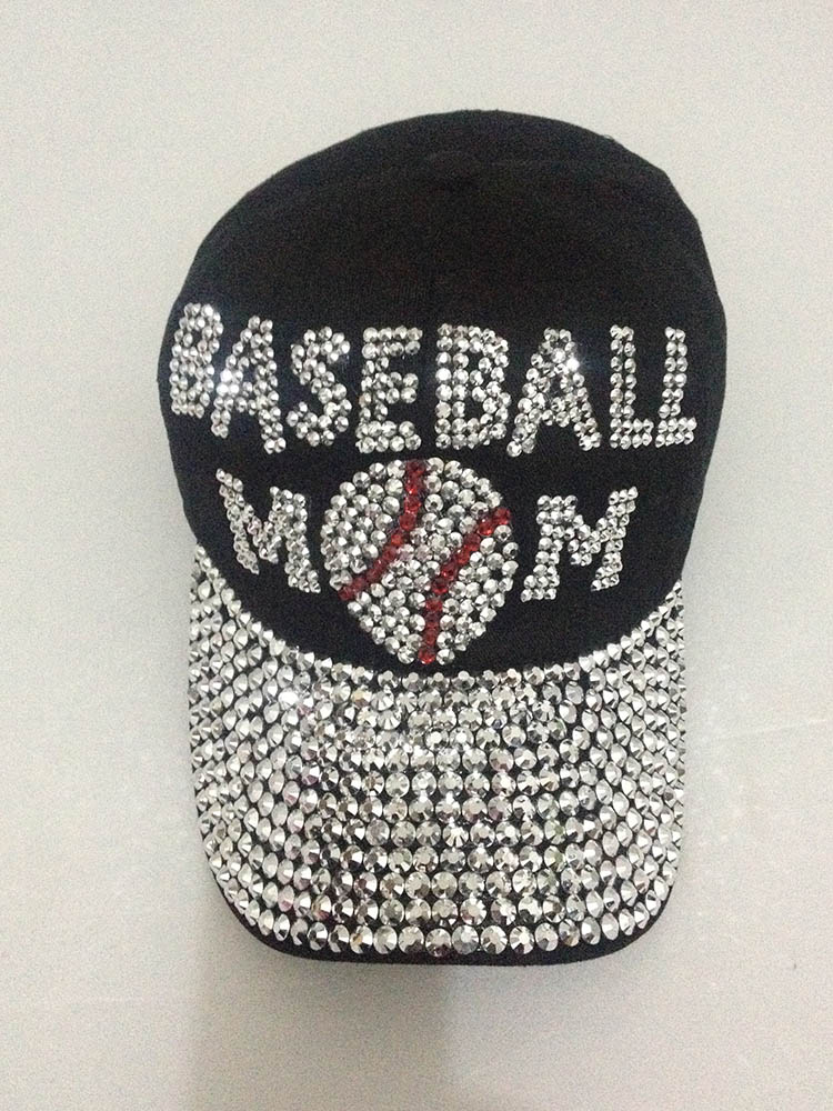 Prix pour 2016 coton femmes de baseball chapeau hommes marque strass chapeau snapback chapeau strass casquette de baseball 1 pcs/lote livraison gratuite