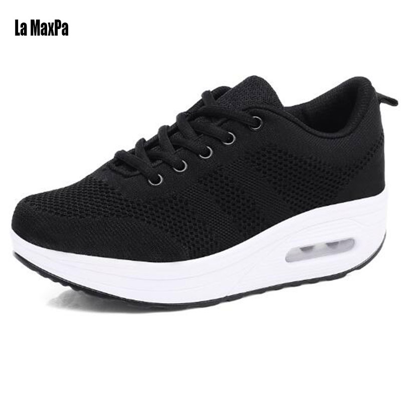 Sport Shoes Woman 2018 Sport Sneakers Platform Running Shoes Sports Breathable Mesh Shoes For Women Walking outdoor Shose Woman ...