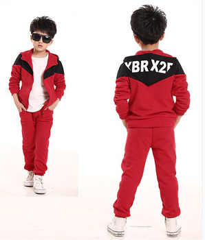 Fashion Children Tracksuit for Boys Hooded Coat Long Pants 2Pcs Boys Sport Suits Spring Autumn Casual Kids Teens Toddler Clothes