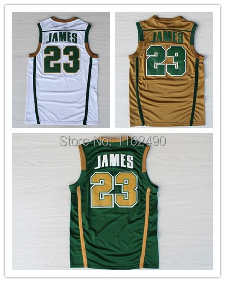 best website 13ed4 90b77 US $17.99 |Miami Lebron James Irish High School Green Stitched Jersey Free  Shipping-in Basketball Jerseys from Sports & Entertainment on ...