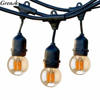 Outdoor String Lights 10M LED Globe Filament Lights 10 Edison Weatherproof Vintage Dimmable Bulbs Garden Holiday