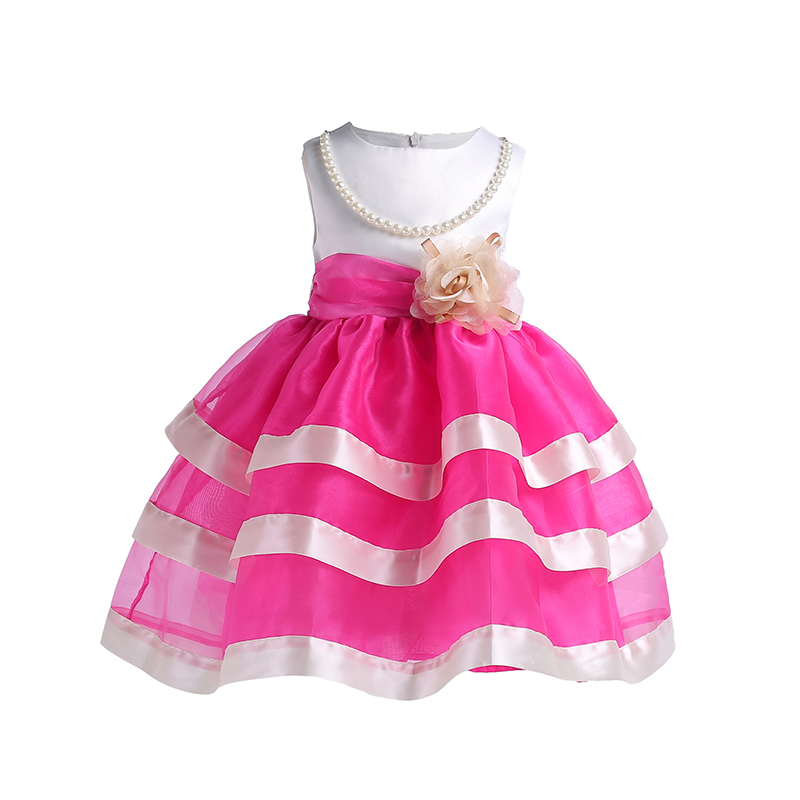 Kids Girls Flower Dress Baby Girl Birthday Party Dresses Children Fancy Princess Ball Gown Wedding Clothes 2 3 4 5 6 7 8 9 Years children s spring and autumn girls bow plaid child children s cotton long sleeved dress baby girl clothes 2 3 4 5 6 7 years