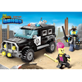 Anti-Riot Police Building Blocks Toys SWAT Team Model Car Self-assemble Educational Toy Gift for Boys