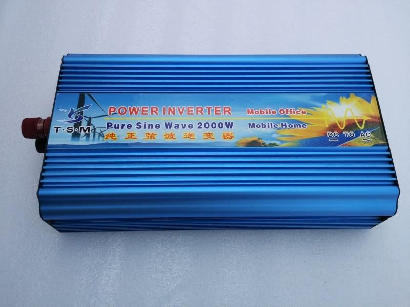Hot Inverter 12V 220V 2000W Pure Sine Wave Power Inverter Voltage Converter 2000W High Power Invertor With Digital Display new arrival 220v pure sine wave power frequency inverter board 24v 36v 48v 60v 1500w 2200w 3000w 3500w hot selling