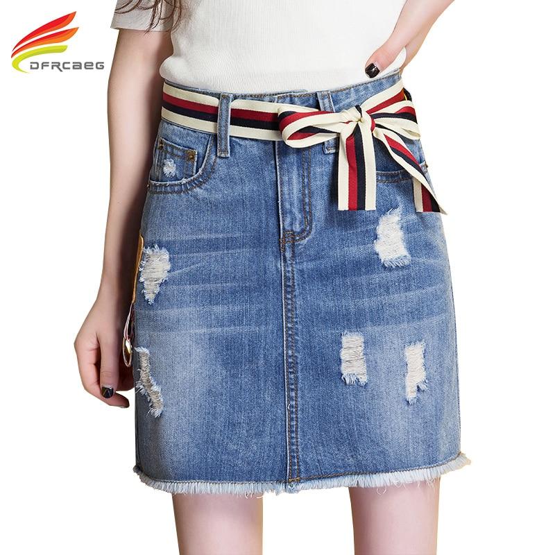 Пояс юбки из джинс