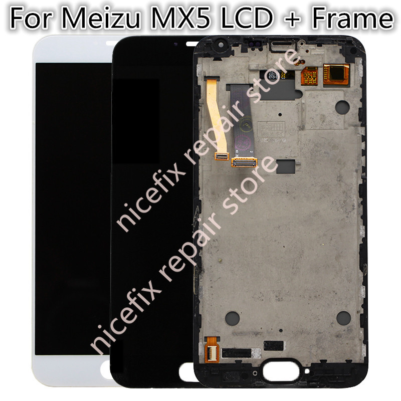 AAA Quality For Meizu MX5 LCD Display with Touch screen digitizer assembly Frame Black White Color