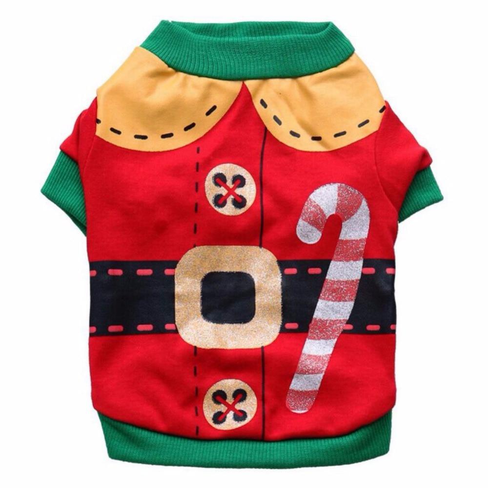cute small dog customes pet dog cat christmas santa sweater cat clothes pet puppy dog shirt coat costumes 2017 new