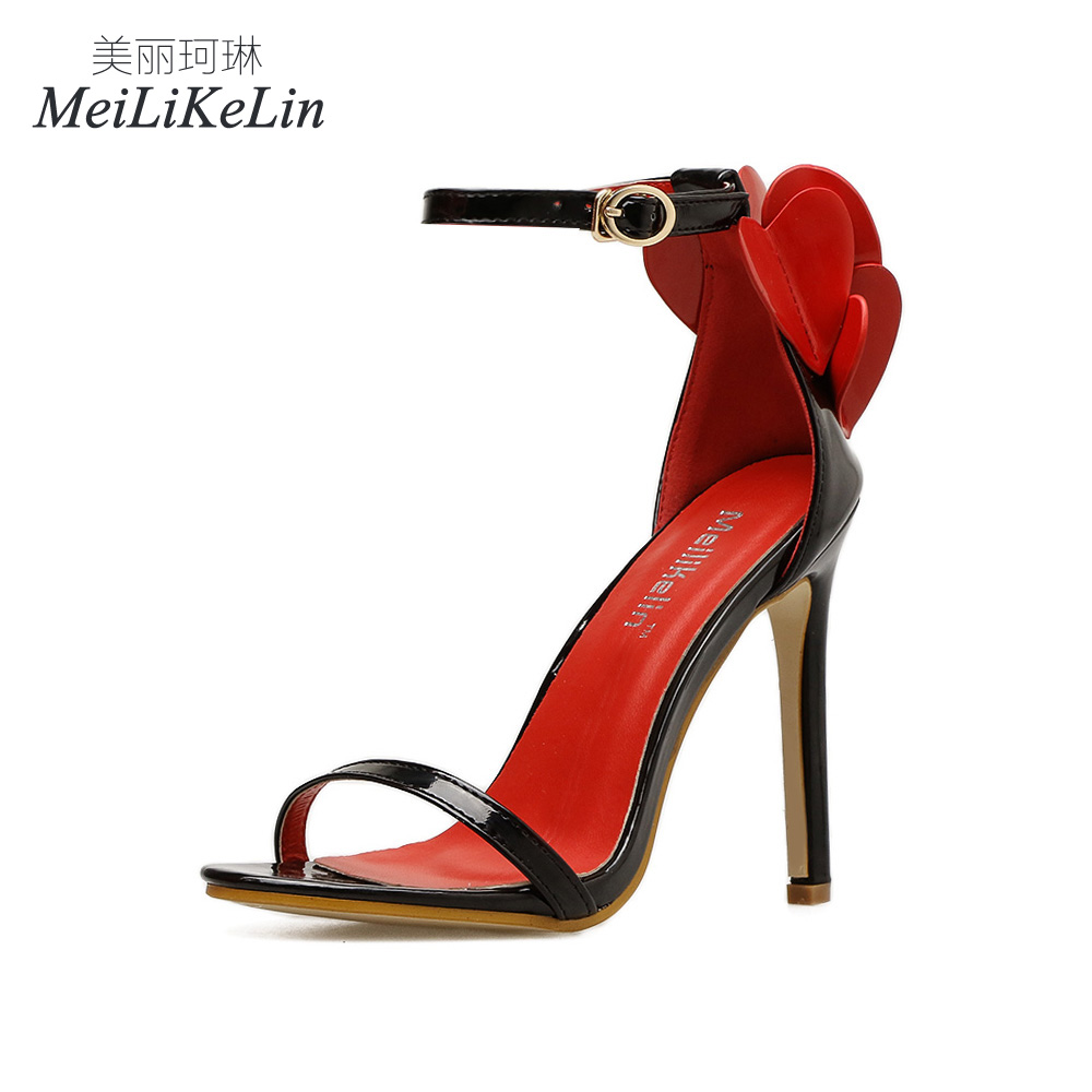 d0d09e517f3a Detail Feedback Questions about MeiLiKeLin Fashion Sexy women s High heeled  shoes Buckle Strap Sandals Summer Concise Appliques shoes woman Black US5 9  on ...