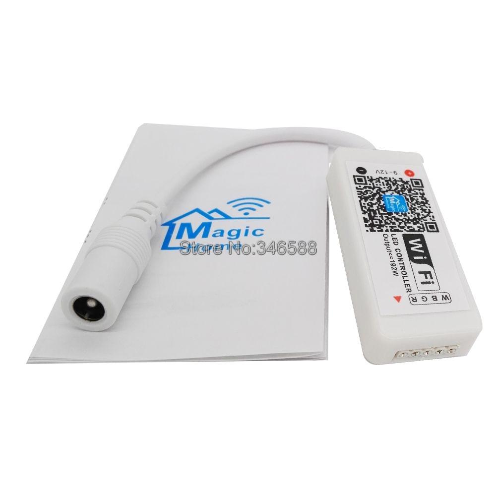 Magic Home MiNi WiFi Controller WiFi RGBW LED Controller DC 12V 4A x 4CH 16A 192W for 5050 RGBW LED Strip Tape декоративні лампи із дерева у стилі бра