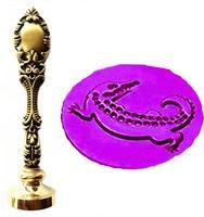 Vintage Crocodile Custom Picture Logo Luxury Wax Seal Sealing Stamp Brass Peacock Metal Handle Gift Set