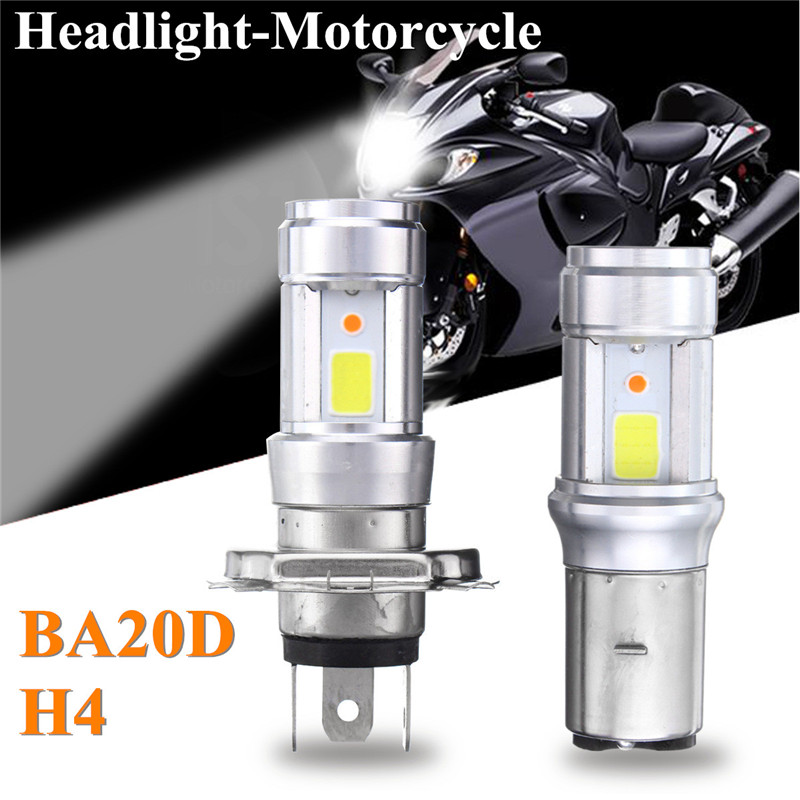 RUPO H4 BA20D 3000LM 18W Bright Hi/Lo COB LED Motorcycle Headlamp Motorbike Headlight Fog Lamp Light DC9-18V