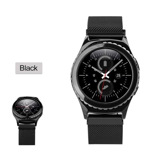 HOCO 1:1 Original Link Bracelet strap & Milanese Loop watchbands Stainless Steel band for Samsung Gear S2 Classic Watchbands