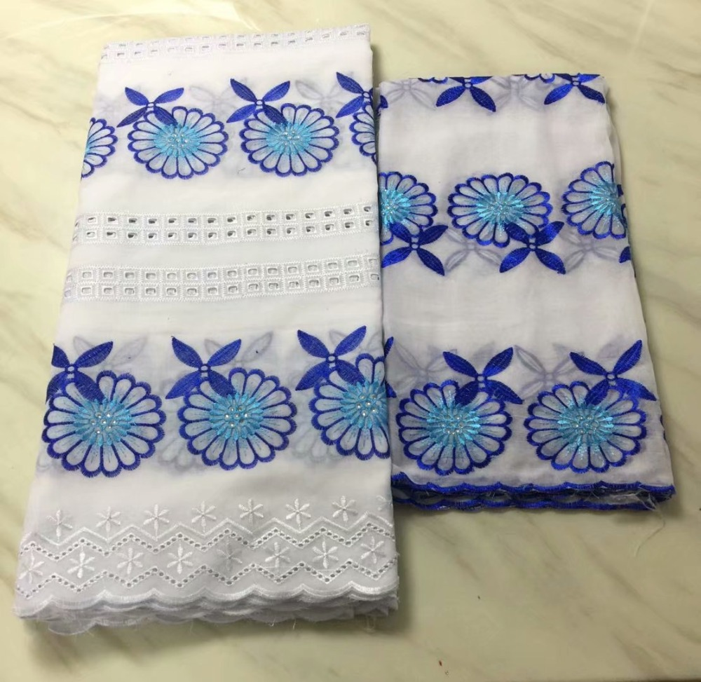 5+2 Swiss Voile Lace In Switzerland High Quality 2018 Nigerian Cotton Dry Lace Msterial Men Embroidery Swiss Voile Lace Fabric