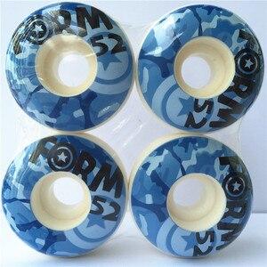 Image 3 - 4 pcs Rodas de Skate Rodas 50mm para Forma De Skate Rodas PU Rodas De Skate 1 Conjunto em Estoque/cada Tipo de