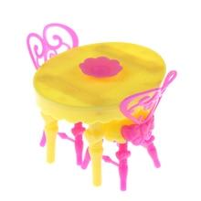Bonito juego de 1 sillas de mesa Vintage para muñecas conjuntos de muebles de comedor juguetes para niña para niño o bebé