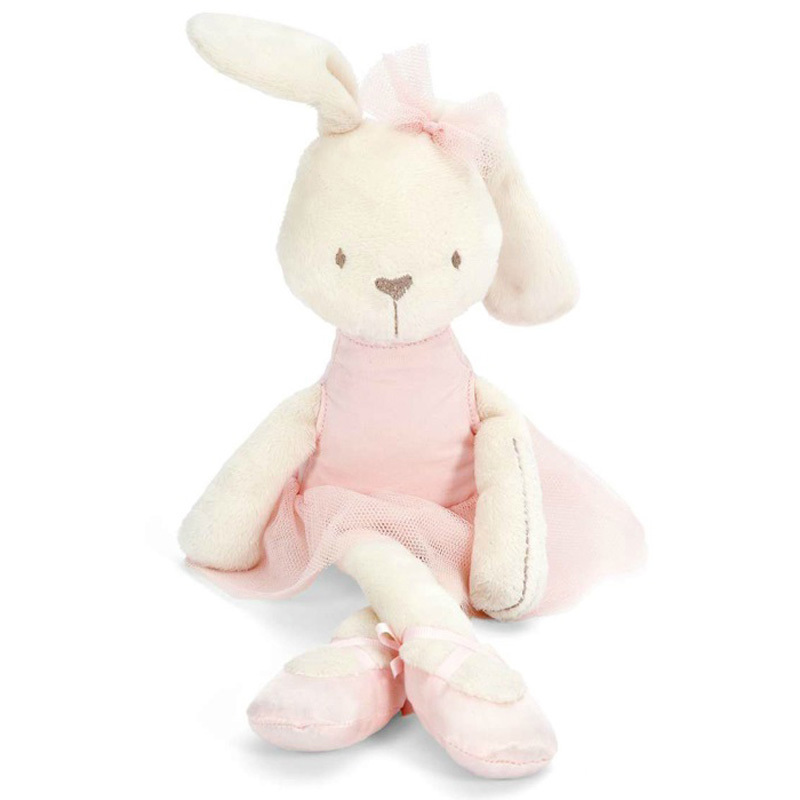 35cm Soft Baby Toy Pink Bunny Mobile Soothe Doll Stuffed Rabbit Toys for Newborns bunny rhinestone hoodies pink l 14