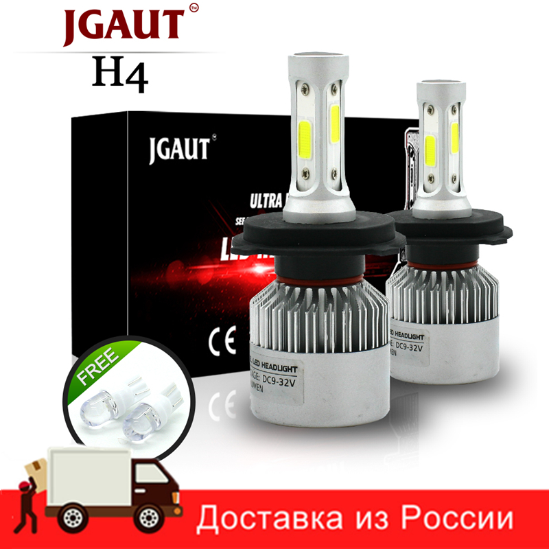 JGAUT S2 H4 H7 H13 H11 H1 9005 9006 H3 9004 9007 9012 COB LED Headlight 72W 8000LM Car LED Headlights Bulb Fog Light 6500K 12V