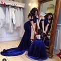 Последние мать и дочь соответствующие платья RMD1508 famliy набор бархат вечернее платье вечернее элегантный мама и дочь одежда