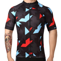 2018 Short Sleeve Cycling Clothing Ropa Ciclismo Invierno Bike Jersey Geometric Element Bicycle Mtb Speckle Cycling