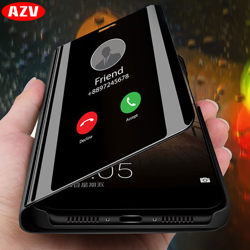 AZV Luxury Flip Stand Phone Case On The For Samsung Galaxy A50 A40 A30 A20 A10 A3 A5 A7 2017 Note 8 9 S9 S8 Plus S7 S6 Edge Case