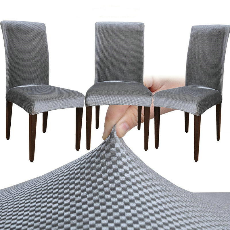 Velvet fashion design universal elastic chair cover dining for Housse couverture