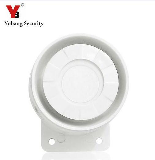 Yobang Security Alarm Siren Horn For Security System White Color 110dB 12V Home Office Protecting Sensors Alarm Wired Siren