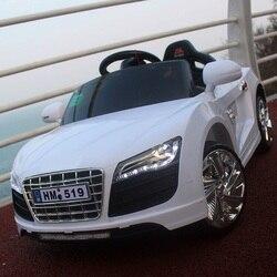6v dupla unidade com 2.4g carro elétrico remoto bluetooth brinquedo de controle remoto crianças sentar passeio no carrinho de bebê apoio mp3 música