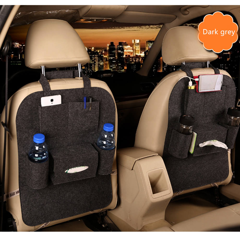 Mutifuction Travel Car Back Seat Organizer Holder Bag Covers Dust-proof Children Kick Mat Protects from Mud Dirt Car-cover