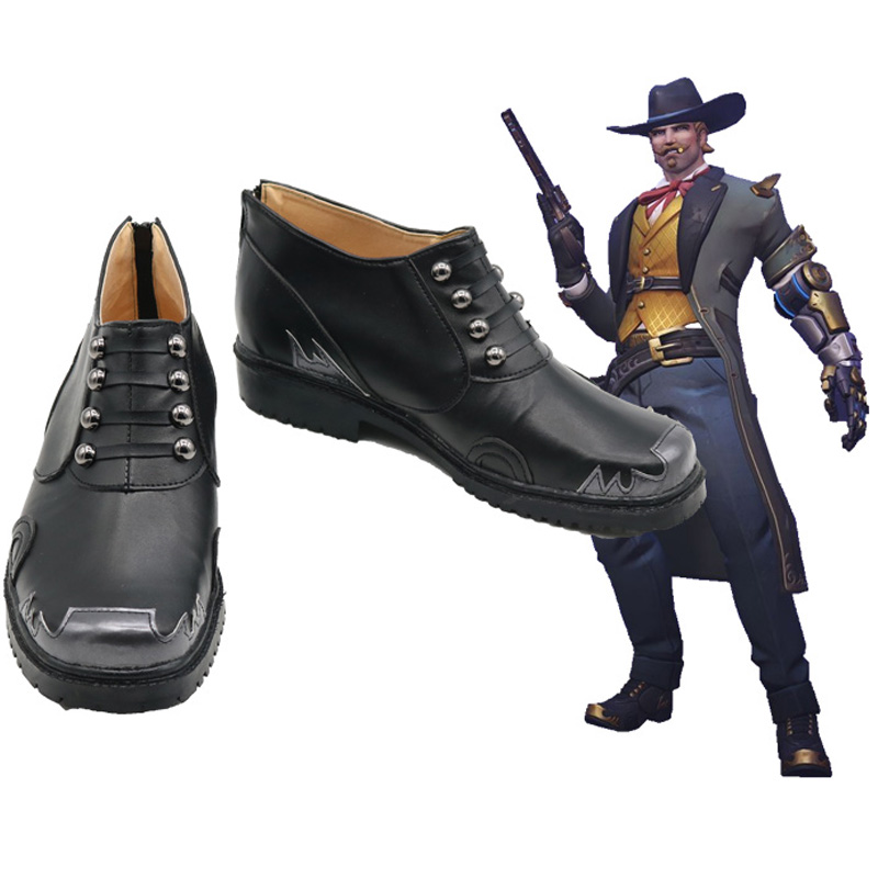 OW Jesse McCree Mystery Man Cosplay Shoes Boots Halloween Carnival Party Cosplay Costume Accessories