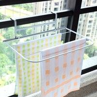 Folding multifunctional wrought iron balcony clothing racks windowsillxia drying shoe rack hanger towel rack