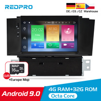 7 Android 9.0 Car DVD Stereo Multimedia Player For Citroen C4 C4L DS4 2013 2016 Auto Audio Video GPS Navigation headunit 4G RAM