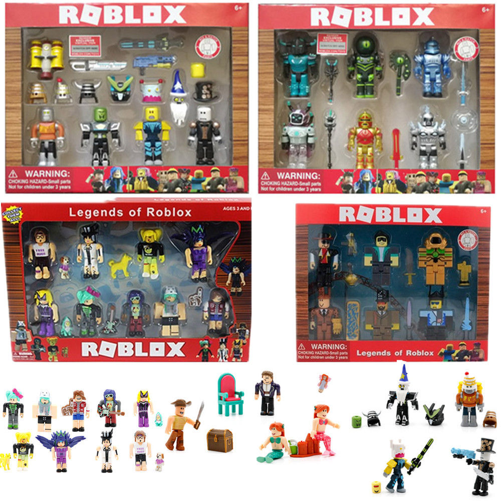 Figure PVC Blocks Dolls Weapons Fans-Collection Game-Player Boys Toys Gifts Roblox Mini
