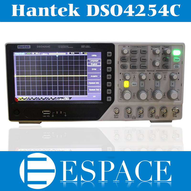 2017 New Hantek DSO4254C Digital Storage Oscilloscope 250 MHz 4 Channels 1 Gsa s Integrated USB