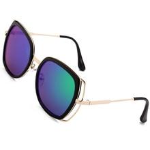 Women Sunglasses Vintage Golden Alloy Frame Casual Sun Glasses Unisex Men UV400 stylish golden alloy leg matte black frame sunglasses for women