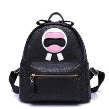 2016 известный бренд колледж школьный кожаный рюкзак женский Корейский досуг дорожная сумка бутик черный рюкзаки Harajuku Санторо
