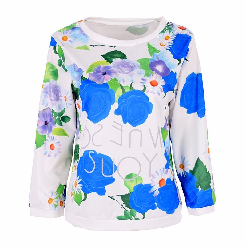HTB1zyM LVXXXXXIapXXq6xXFXXXx - Autumn Women Girl Long Sleeve Floral Print T Shirts