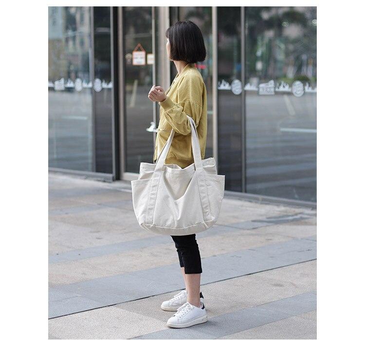 lona grande sacola senhora lazer bolsa de ombro
