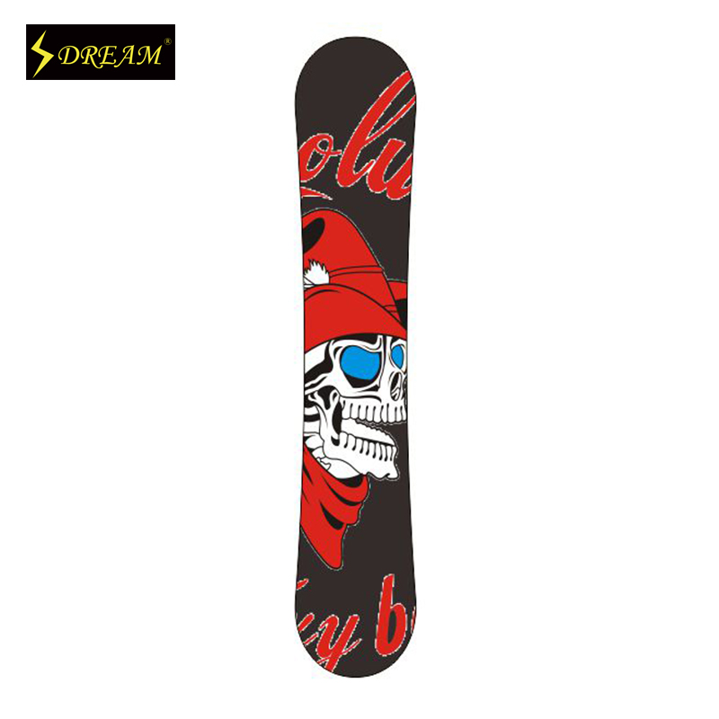 Customizable Wooden font b Snowboards b font Skiing Boards Poplar Core With Carbon Fiber P Tex