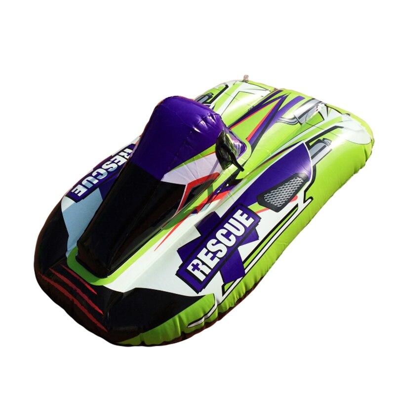 Gonflable Traîneau Ski Scooter Tour Pad Mini Herbe Anneau Cercle Usure Épais Conseil Snowboard Neige Luge Luge