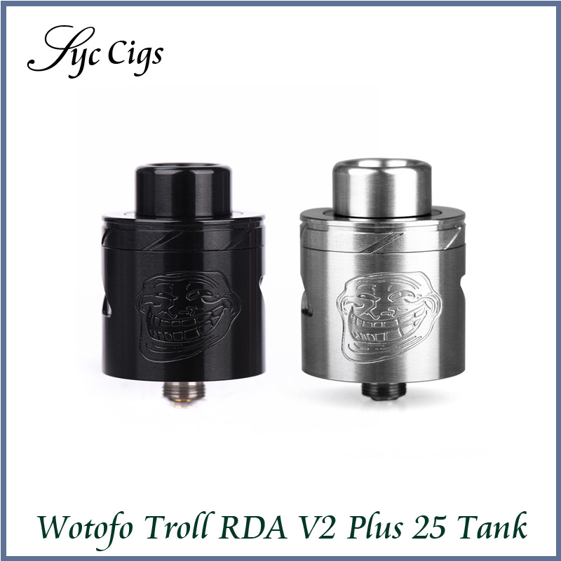 Original Wotofo Troll RDA V2 25mm Atomizer with 510 Thread Huge Vapor Troll 25 RDA V2