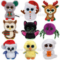 TY Beanie Boos Plush Stuffed Animals Collection Cute Big Eyed Bat Spider Mouse Snowman Reindeer Chick Ghost Owl 15cm Toys Gifts